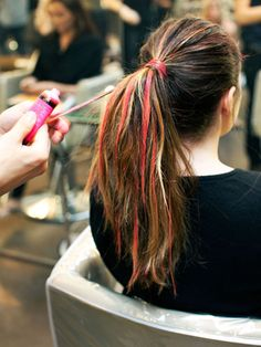 Temporary Rainbow Hair Color How To - Colored hair gel! This will work on dark hair