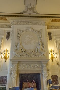 Fireplace Detail in the main gallery.