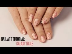 Pastel Pink Galaxy Nails TUTORIAL with The Body Shop! + Report From The Videoshoot - Lucy's Stash