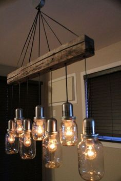 44 DIY ideas with mason jars that show creativity in .- 44 DIY Ideen mit Einmachgläsern, welche die Kreativität in einem wecken 44 DIY ideas with mason jars that awaken creativity in one - Rustic Lighting, Industrial Lighting, Lighting Ideas, Industrial Style, Outdoor Lighting, Ceiling Lighting, Vintage Lighting, Track Lighting, Bathroom Lighting