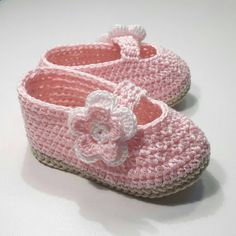 Shoes baby ballerinas booties for by CrochetTattingByAle