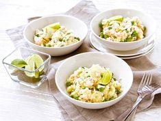 Katkarapurisotto 20 Min, Risotto, Fried Rice, Healthy Dinner Recipes, Potato Salad, Potatoes, Fruit, Ethnic Recipes, Food