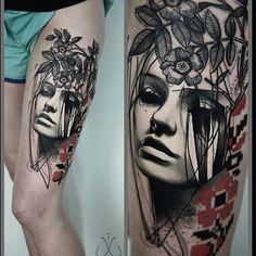 ❤️ Beautiful design by @timur_lysenko ❤️ #perfecttattoo #perfectartist #abstract #abstracttattoo #abstractrealism #legtattoo #beautiful #beautifultattoo #blackandgray #blackandgraytattoo #tattoo
