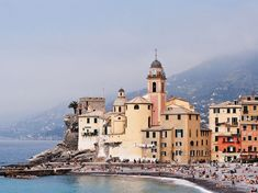 CAMOGLI The small Italian fishing village nestled on the Italian Riviera isn't just pretty—it's surprisingly happening, too. In addition to rows of candy-colored homes, there's a small harbor with shops and restaurants, a carousel near the water, and a bi