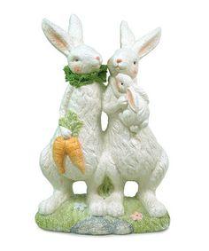 Melrose - Rabbit Couple & Baby Statue      $29.99