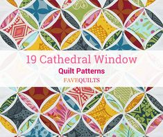 19 Cathedral Window Quilt Patterns - Home & DIY Vintage Quilts Patterns, Patchwork Patterns, Quilt Block Patterns, Quilt Blocks, Weaving Patterns, Fabric Patterns, Cathedral Window Patchwork, Cathedral Window Quilts, Cathedral Windows