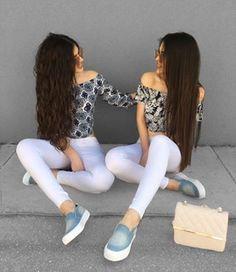 - Gülcan & Sahinur Twins (@thegstwins) Twin Outfits, Cute Outfits, Modest Fashion Hijab, Best Friend Outfits, Girl Fashion, Fashion Outfits, Quince Dresses, Beaded Prom Dress, Fashion Marketing