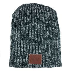 Hunter Green and White Speckled Beanie