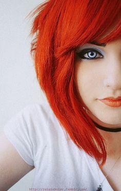Orange Hair & Lip Stick
