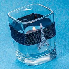 paris themed quinceanera | DIY Parisian Eiffel Tower Square Votive Holder