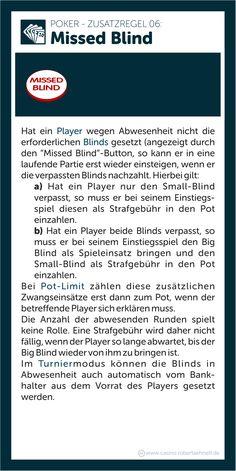 Poker Additional Rules Missed Blind Blinde, Game