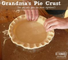 "My grandma made a mean pie crust. Happily, I still have a copy of her recipe. Now you can make it, too! Apple pie, pumpkin pie - use this crust and you'll win ""best dessert"" every time."