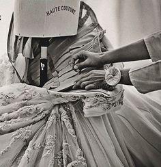 """Creating a masterpiece...""""Les Journées Particulières"""" exhibition, Christian Dior Haute Couture..."""