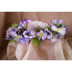 Spring faerie head wreath Easter fairy costume wedding accessory. $40.00, via Etsy.