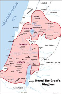 Map of Herod's Kingdom in the New Testament
