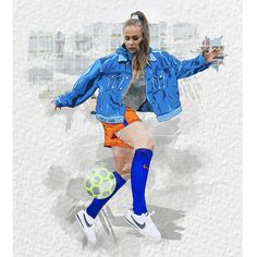 Everyday fashion for you! Girl Football Player, Football Girls, Women's Football, Arsenal Ladies, Varsity Letterman Jackets, Dutch Women, Vest Outfits, Drawing Clothes, Soccer Training