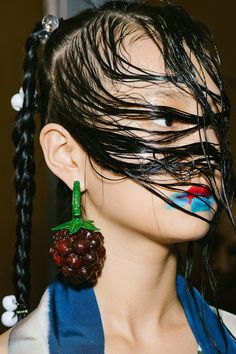 Biggest Accessory Trends from SS 2018 PWF strawberry earring