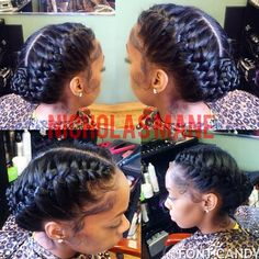 Box-Braided Bun - Braids with Beads: Hairstyles for a Beautiful and Authentic Look - The Trending Hairstyle Summer Hairstyles, Pretty Hairstyles, Braided Hairstyles, Black Hairstyles, Protective Hairstyles, Prom Hairstyles, Under Braids, 2 Braids, Goddess Braids Updo