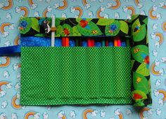 Items similar to Fabric Pencil Roll. Colouring pencil roll, travel pencil holder, cotton pencil roll, roll up pencil holder, pencil case. Colouring, Colored Pencils, Diaper Bag, Quilting, Sewing, Unique Jewelry, Handmade Gifts, Fabric, Crafts