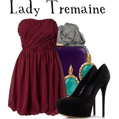 Lady Tremaine by agust20 on Polyvore featuring VILA, Casadei, Rebecca Minkoff, Kate Spade, Acne Studios, evil step mother, bad, step other, lady tremaine and villains