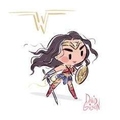 Super fast, small and cute Wonder Woman 2017 ✨ https://www.facebook.com/artofdavidgilson/