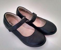 Umi Ria Girls Mary Janes 11.5 Black Leather Shoes Uniform  #Umi #MaryJanes