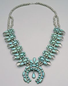 Native American Squash Blossom Necklace - someday I may inherit one... that and a parrot.