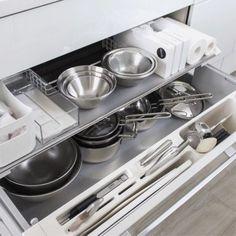Pin on キッチン Home Organisation, Kitchen Organization, Kitchen Storage, Organizing, Larder Cupboard, Kitchen Cupboard Doors, Panton Chair, Butler Pantry, Stove