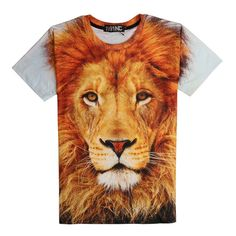 The King of Lion 3D Print Tshirt