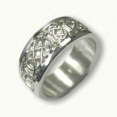 Celtic Kinloss Wedding rings in white gold, platinum, yellow gold & two tone - create Your wedding rings - make your dream wedding rings a reality! Mens Celtic Wedding Bands, Celtic Rings, Tie The Knots, Dream Wedding, Wedding Inspiration, White Gold, Engagement Rings, Sterling Silver, Jewelry