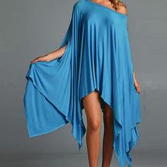 """💙Trendy Turquoise Soft & Bouncy Dress/Tunic💙 💙Trendy Turquoise Soft & Bouncy Tunic💙 May be worn as a dress or tunic with leggings. Such a versatile piece and a wardrobe staple. Bust-Free Length (Shortest)-30"""" Length (Longest)-40"""" Dresses"""