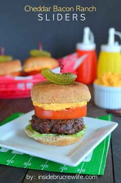 Bacon, cheese, and ranch make these little burgers juicy and delicious!