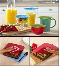 New Norwex Products! Fall 2015 - Silicone Cup Lids - Insulate your drinks with an airtight seal to keep your coffee and tea hot, and your soft drinks cold, for longer. Makes a convenient cover for small bowls, too. Works on stainless steel, glass, plastic or ceramic containers with smooth rims. BPA-free. Dishwasher safe. 1-year warranty. Set of 4. http://www.fastgreenclean.com/2015/08/new-products-fall-2015.html