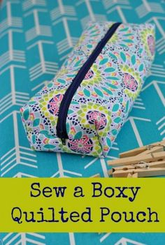 Quilted Boxy Cornered Pouch from Lindsay Sews