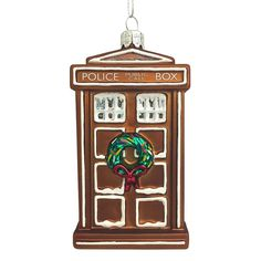 #DoctorWho Glass Gingerbread TARDIS Ornament  For your #Christmas wish-list!