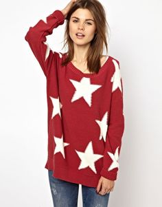 slouchy star sweater