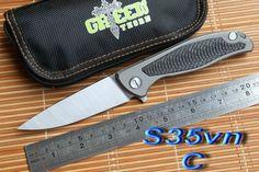 Green Thorn Hunting Pocket Knife With A SharpS35vn Blade andF95 Titanium Carbon Fiber Handle. Brand: Green Thorn Handle Material: Titanium or Carbon Fiber B