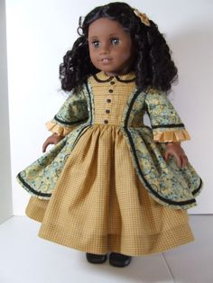 1850's Day Dress for American Girl by agseamstress on Etsy