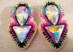 eleumne.com  Native American beaded earrings by eleumne on Etsy, $40.00