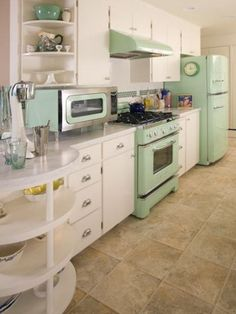The rounded cabinet ends and countertop add a nice whimsy and opportunities for displays.