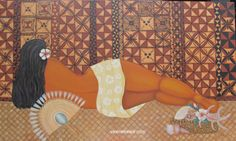 Resting original painting for private collection