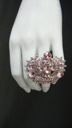 Princess Crown Ring made with Light Rose by MariannaHarutunian, $45.00