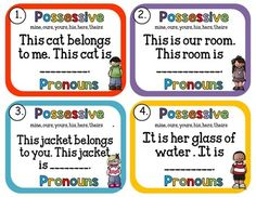 Possessive Pronouns Task Cards by Rock Paper Scissors | TpT