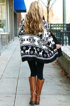 Trendy Fall Fashion Outfits : nordic sweater - Women W Fall Winter Outfits, Winter Wear, Autumn Winter Fashion, Winter Clothes, Winter Style, Winter Boots, The Cardigans, Nordic Sweater, Aztec Sweater