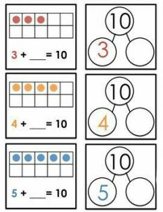 Make a 10 | Worksheet School Kindergarten Math Worksheets, Math Resources, Teaching Math, Math Activities, Math Games, Singapore Math, Math Intervention, Math Addition, Math Workshop