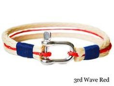 SALTI Nautical Bracelet in 3rd Wave Red