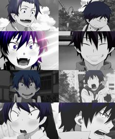 Blue Exorcist ~~ Just SOME of the many faces of Rin Okumura