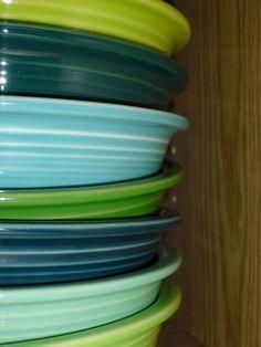 Fiesta Dinnerware - pretty green color combo