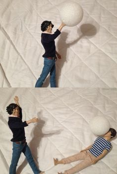 Harry abuses his friend with a snowball