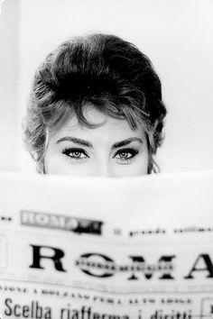 "gazingamongstpassion: "" margaretroses: ""Sophia Loren by Alfred Eisenstaedt, 1961."""